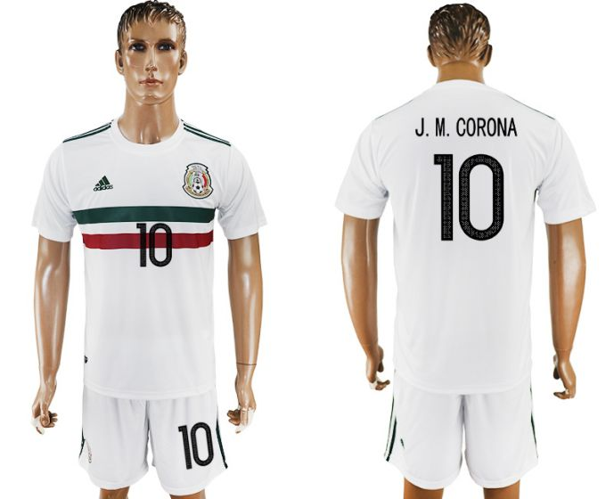 Men 2017-2018 National Mexico away 10 soccer jersey