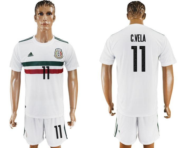Men 2017-2018 National Mexico away 11 soccer jersey
