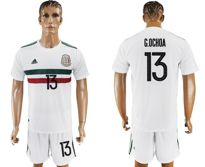 Men 2017-2018 National Mexico away 13 soccer jersey
