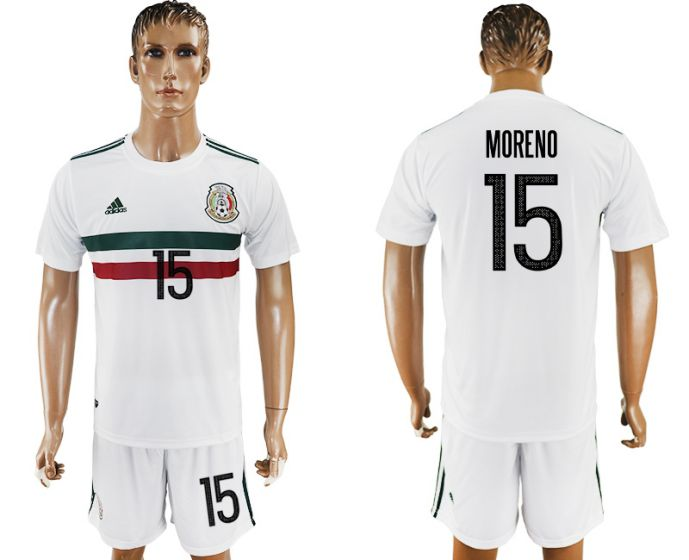 Men 2017-2018 National Mexico away 15 soccer jersey