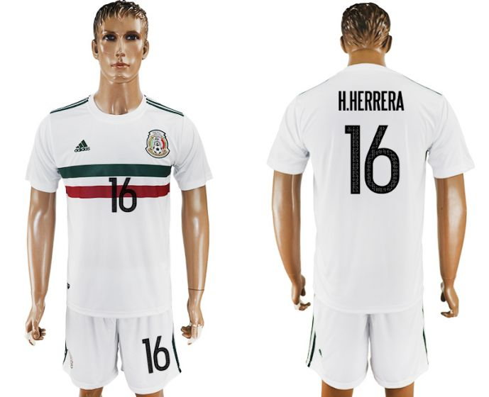 Men 2017-2018 National Mexico away 16 soccer jersey