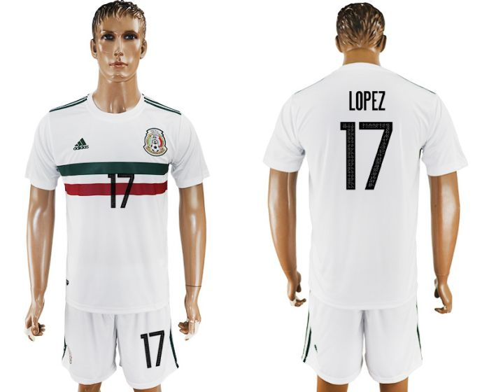 Men 2017-2018 National Mexico away 17 soccer jersey
