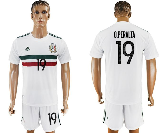 Men 2017-2018 National Mexico away 19 soccer jersey