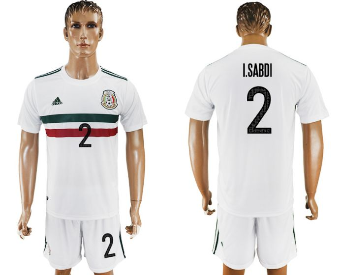 Men 2017-2018 National Mexico away 2 soccer jersey