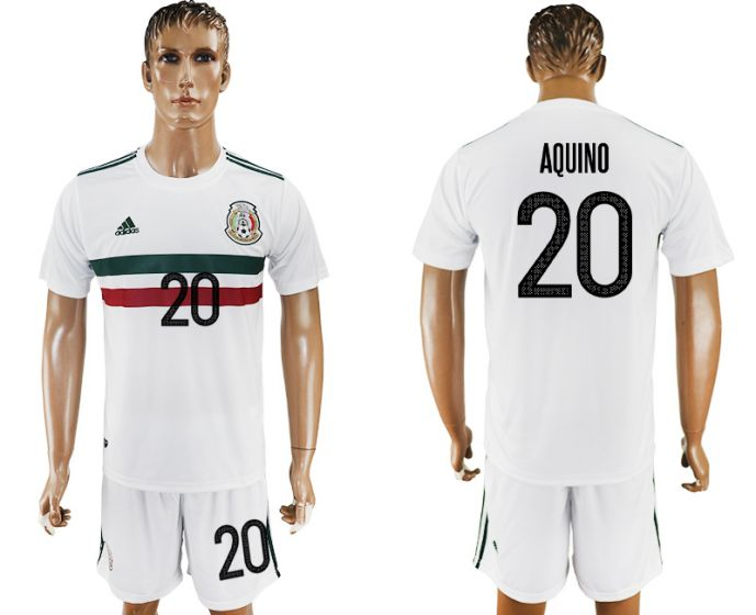 Men 2017-2018 National Mexico away 20 soccer jersey