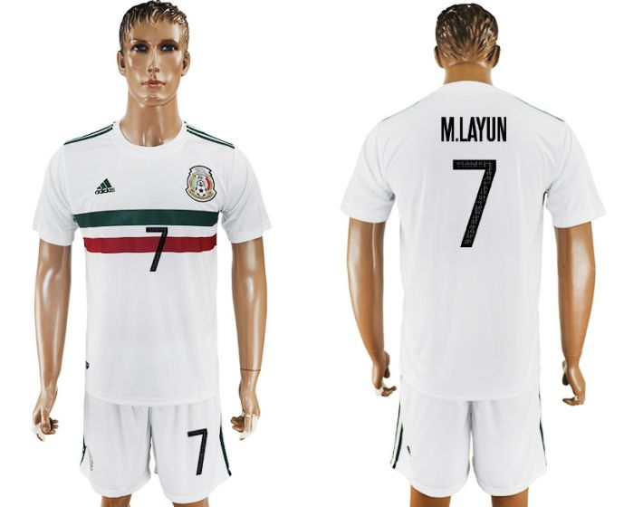Men 2017-2018 National Mexico away 7 soccer jersey