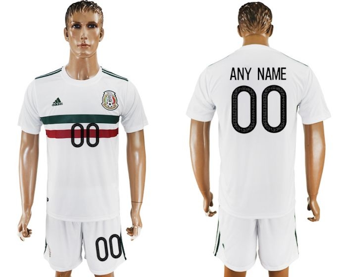 Men 2017-2018 National Mexico away customized soccer jersey