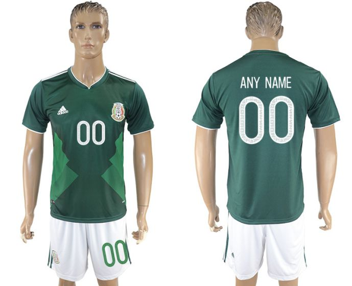 Men 2017-2018 National Mexico home customized soccer jersey