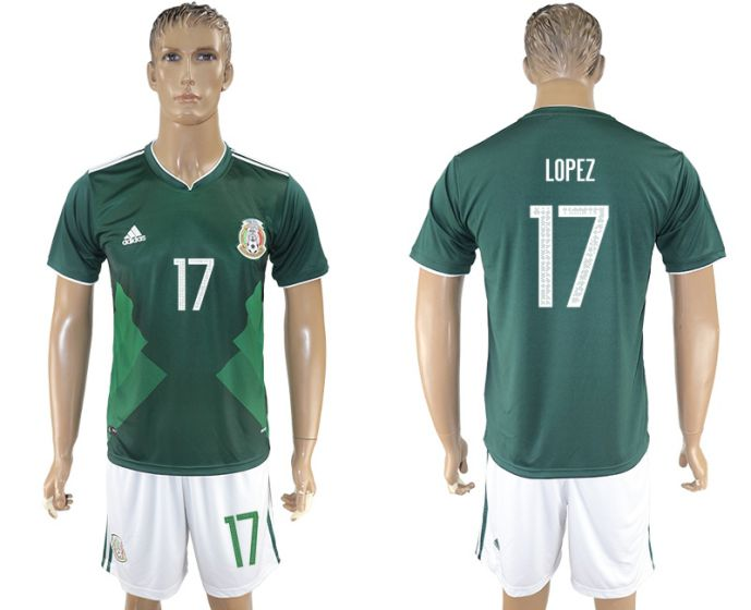 Men 2017-2018 National Mexico home 17 soccer jersey