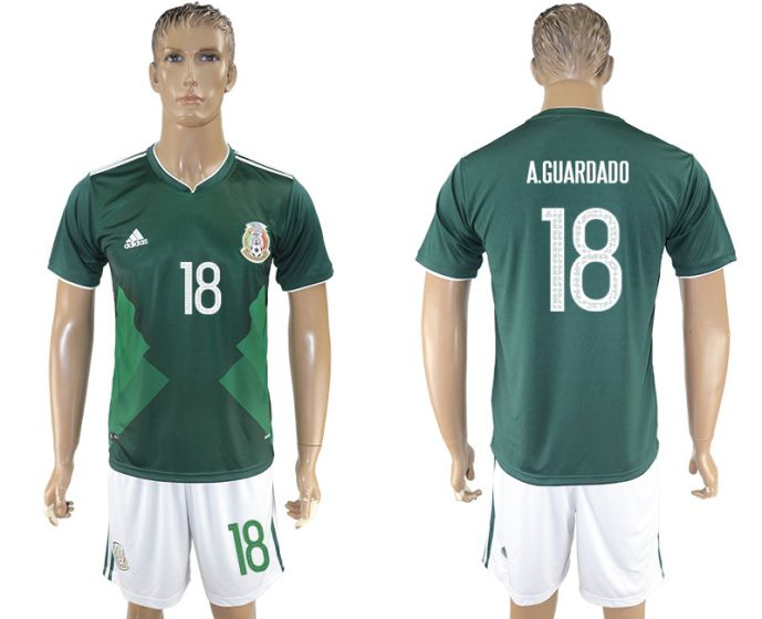 Men 2017-2018 National Mexico home 18 soccer jersey