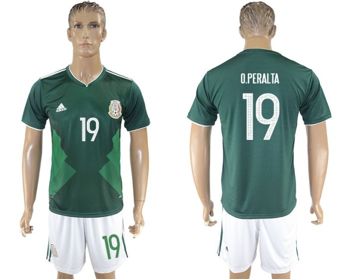 Men 2017-2018 National Mexico home 19 soccer jersey