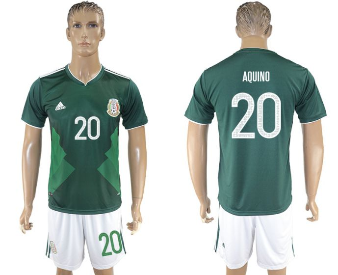 Men 2017-2018 National Mexico home 20 soccer jersey