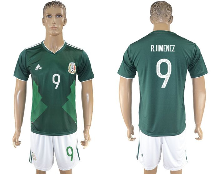 Men 2017-2018 National Mexico home 9 soccer jersey