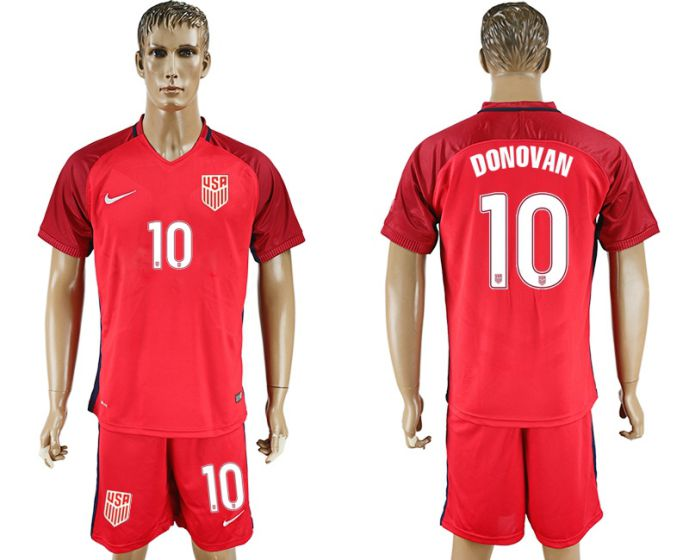 Men 2017-2018 National USA away 10 Donovan soccer jersey