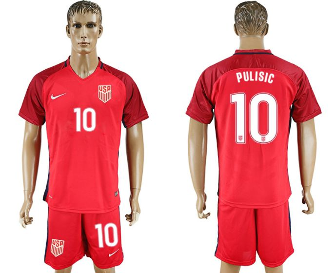 Hommes 2017-2018 National USA 10 maillot de football