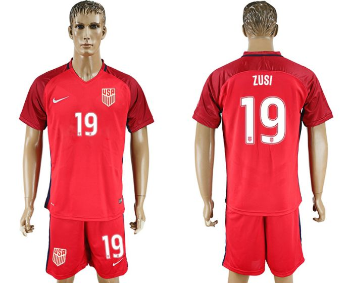 Men 2017-2018 National USA away 19 soccer jersey