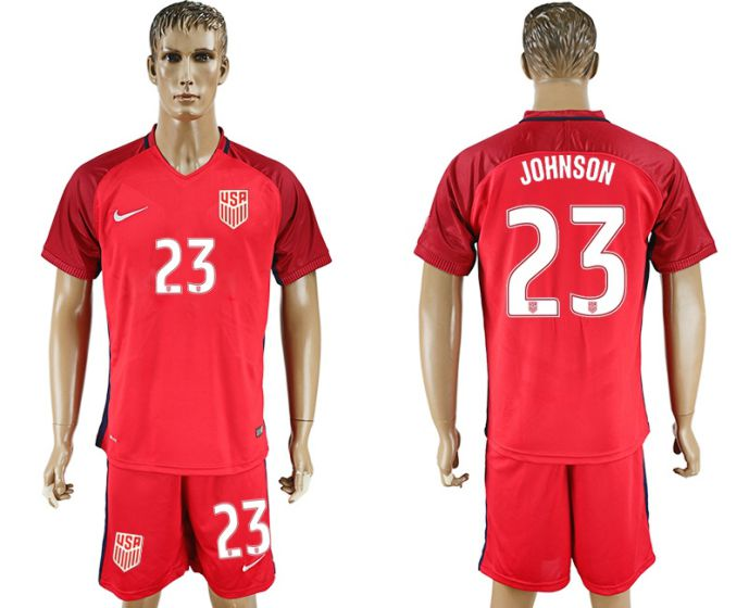 Men 2017-2018 National USA away 23 soccer jersey
