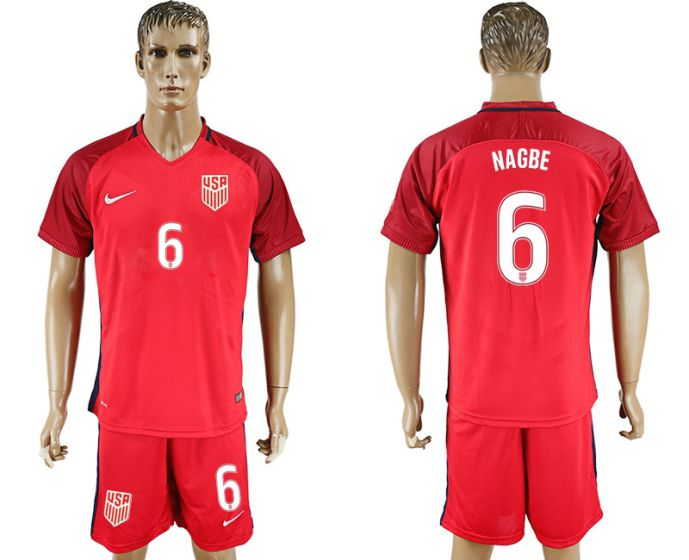 Men 2017-2018 National USA away 6 soccer jersey