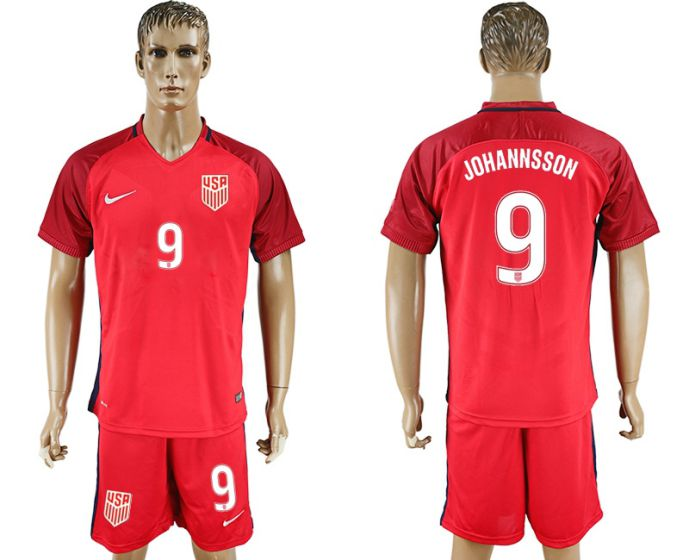 Men 2017-2018 National USA away 9 Johannsson soccer jersey