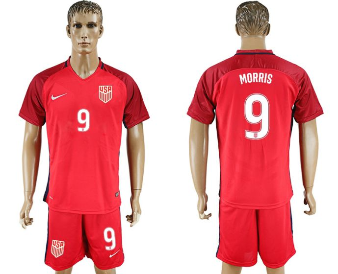 Men 2017-2018 National USA away 9 Morris soccer jersey