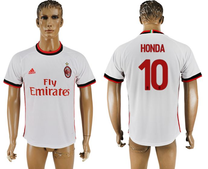 Men 2017-2018 club AC milan 10 white soccer jersey