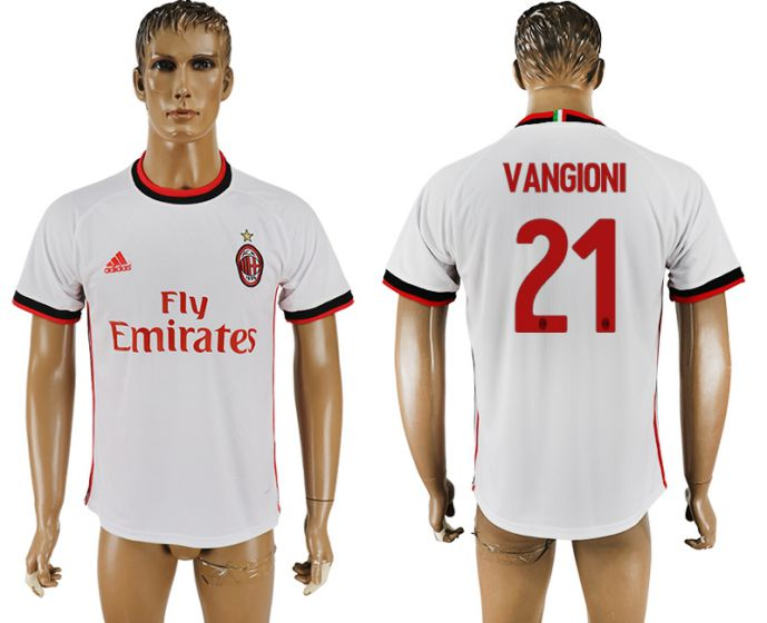 Men 2017-2018 club AC milan 21 white soccer jersey