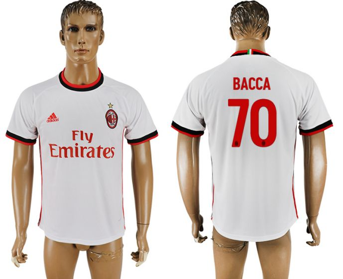 Men 2017-2018 club AC milan 70 white soccer jersey