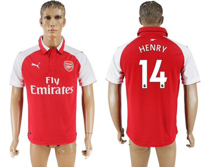 Men 2017-2018 club Arsenal home home aaa version 14 Henry red soccer jersey