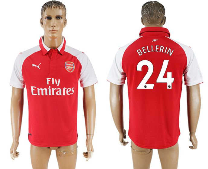 Men 2017-2018 club Arsenal home home aaa version 24 red soccer jersey