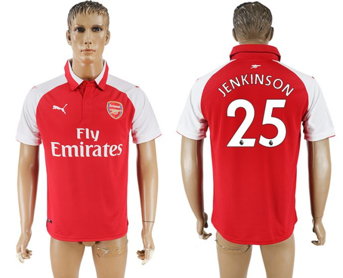 Men 2017-2018 club Arsenal home home aaa version 25 red soccer jersey