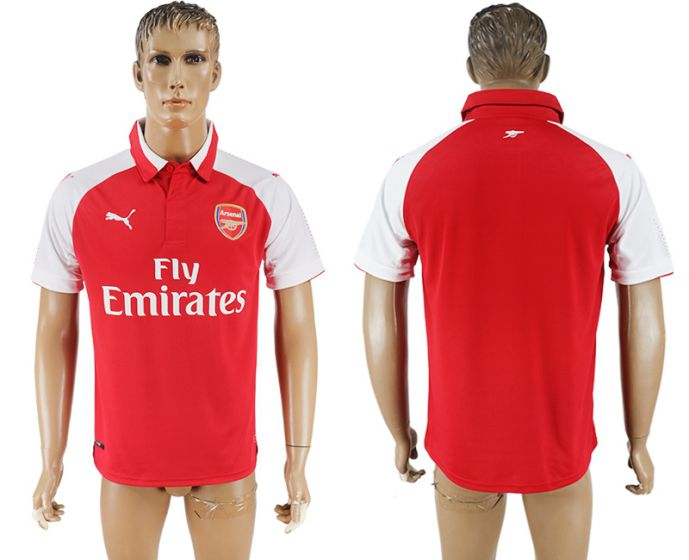 Men 2017-2018 club Arsenal home home aaa version blank red soccer jersey