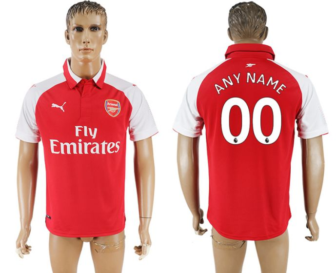 Men 2017-2018 club Arsenal home home aaa version customized red soccer jersey