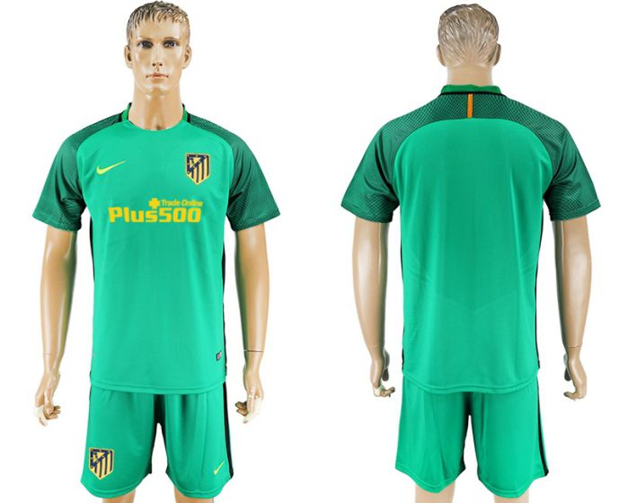 Men 2017-2018 club Atletico Madrid green goalkeeper soccer jersey