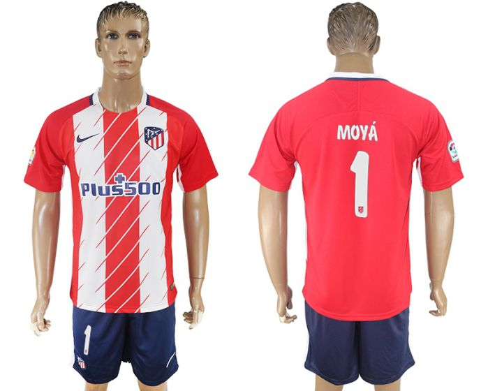 Men 2017-2018 club Atletico Madrid home 1 red soccer jersey