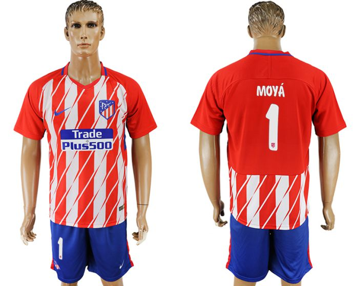 Men 2017-2018 club Atletico Madrid home 1 soccer jersey