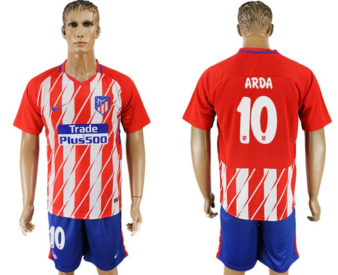 Men 2017-2018 club Atletico Madrid home 10 red soccer jersey