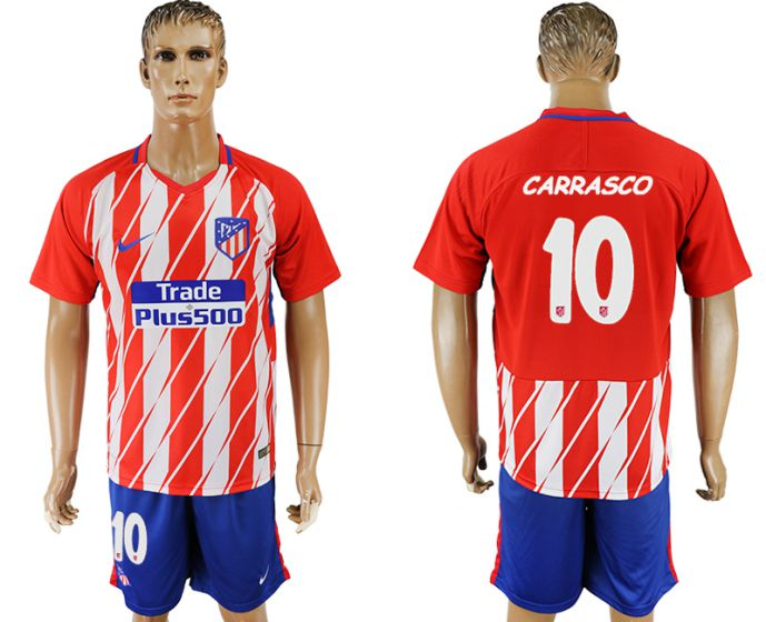 Men 2017-2018 club Atletico Madrid home 10 soccer jersey
