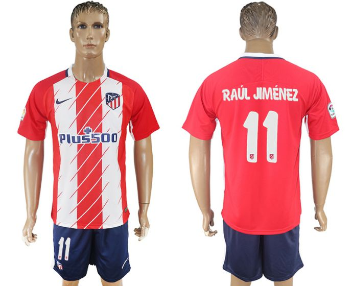 Men 2017-2018 club Atletico Madrid home 11 red soccer jersey