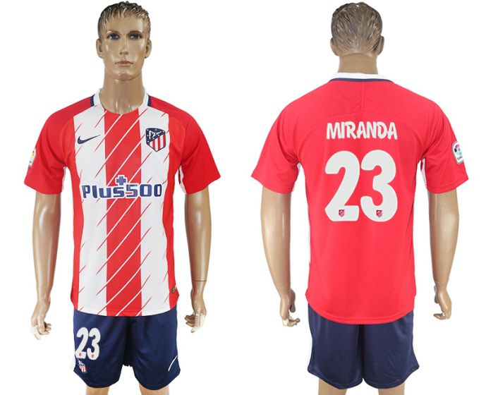 Men 2017-2018 club Atletico Madrid home 23 red soccer jersey