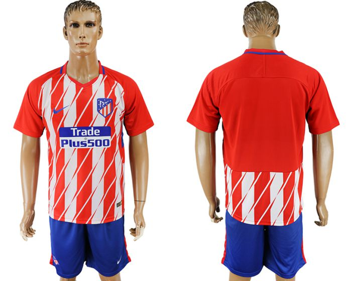 Men 2017-2018 club Atletico Madrid home soccer jersey