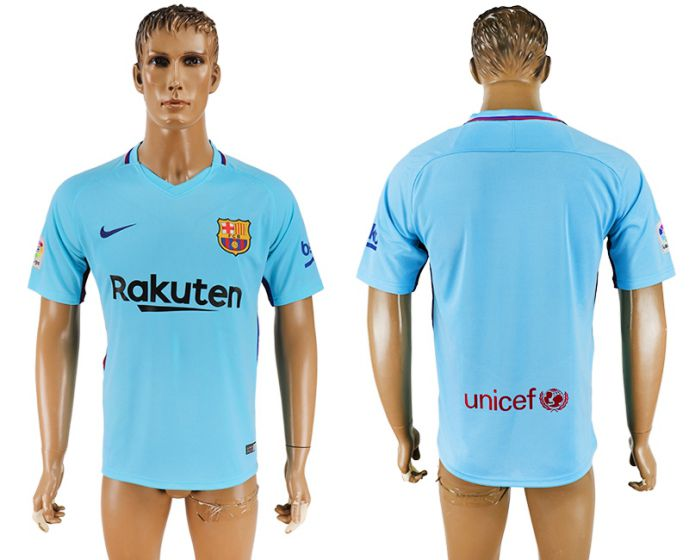Hommes 2017-2018 club Barcelone loin aaa version bleu football maillot