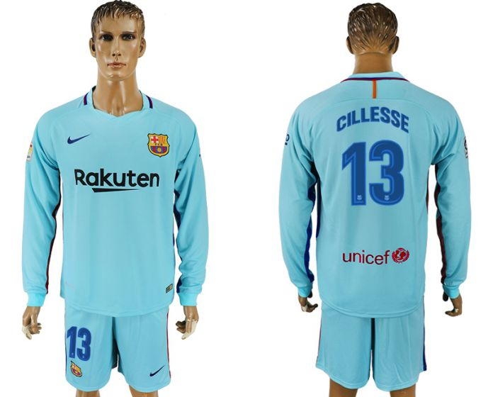 Hommes 2017-2018 club Barcelone à manches longues 13 maillot de football