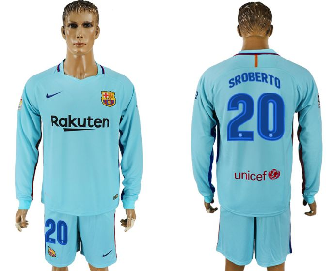 Hommes 2017-2018 club Barcelone à manches longues 20 maillot de football