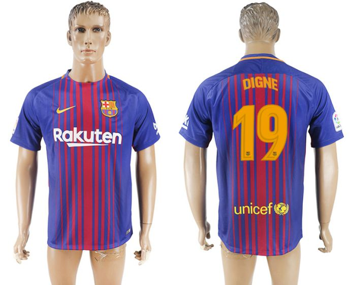 Hommes 2017-2018 club Barcelone accueil aaa version 19 maillot de football violet