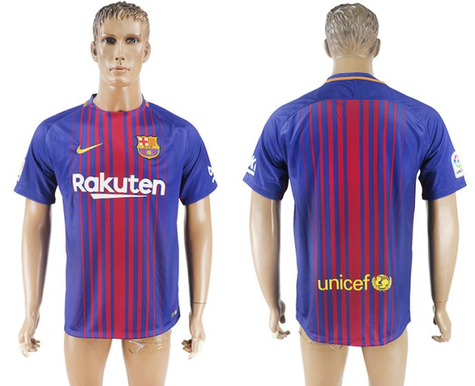 Hommes 2017-2018 club Barcelone accueil aaa version maillot de football violet