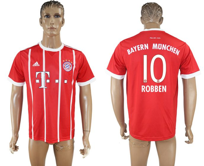Men 2017-2018 club Bayern Munich home aaa version 10 red soccer jersey