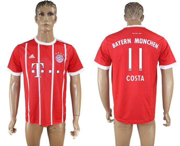 Men 2017-2018 club Bayern Munich home aaa version 11 red soccer jersey