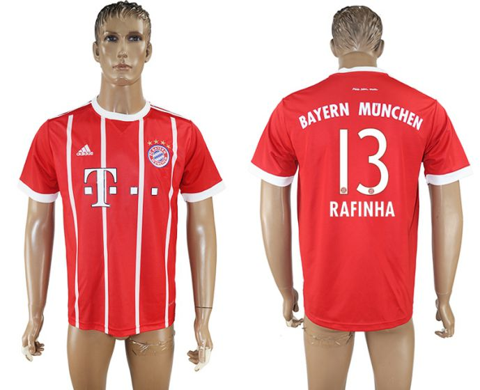 Men 2017-2018 club Bayern Munich home aaa version 13 red soccer jersey