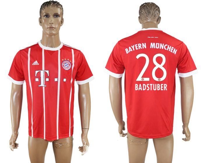 Hommes 2017-2018 club Bayern Munich accueil aaa version 28 rouge football maillot
