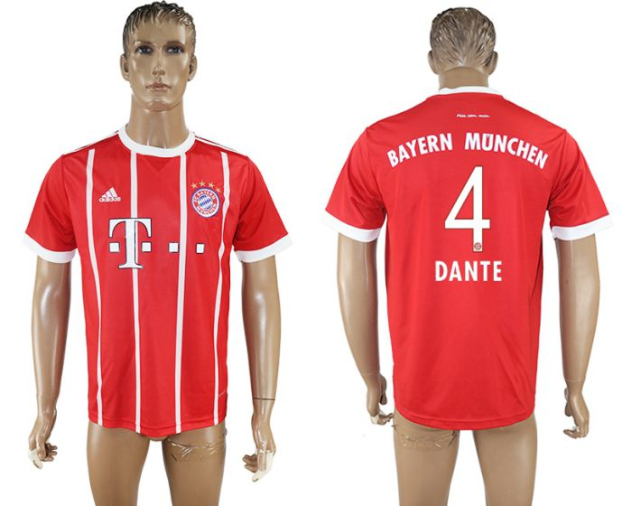 Hommes 2017-2018 club Bayern Munich accueil aaa version 4 rouge football maillot